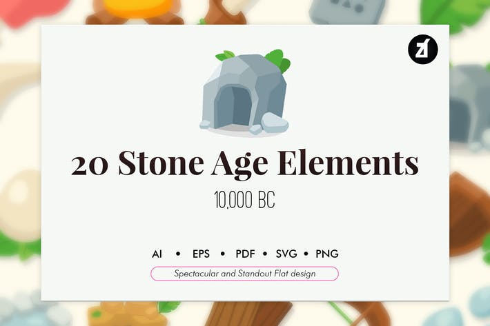 Thumbnail for 20 Stone age elements