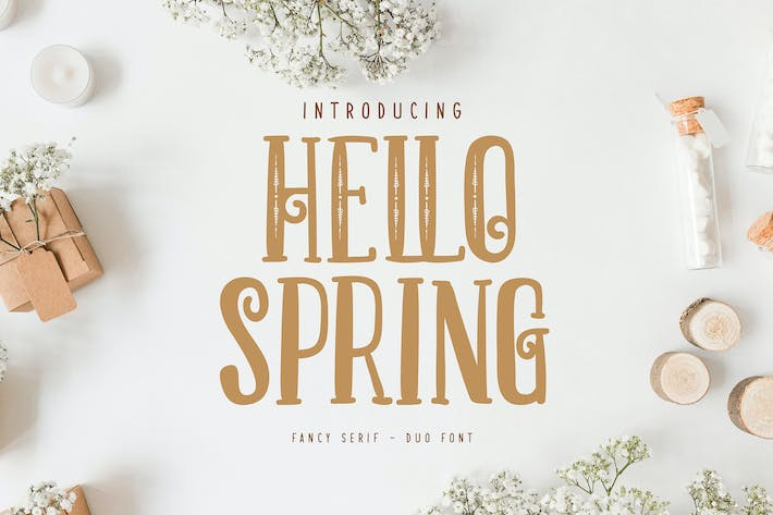Thumbnail for Hello Spring   Fancy Serif Duo Font