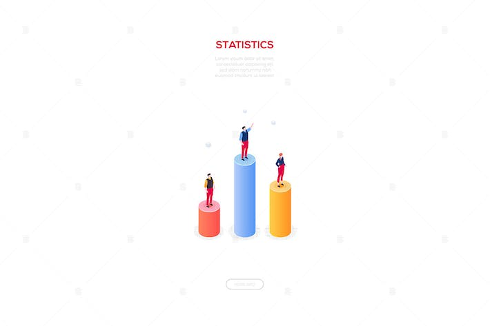 Thumbnail for Business statistics - isometric web banner