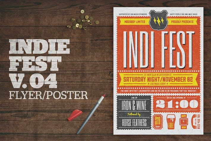 Cover Image For Indie Fest Poster V04