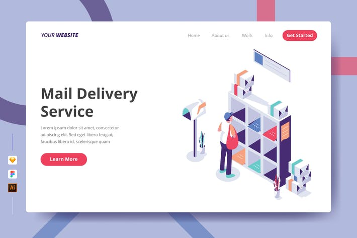 Thumbnail for Mail Delivery Service - Landing Page