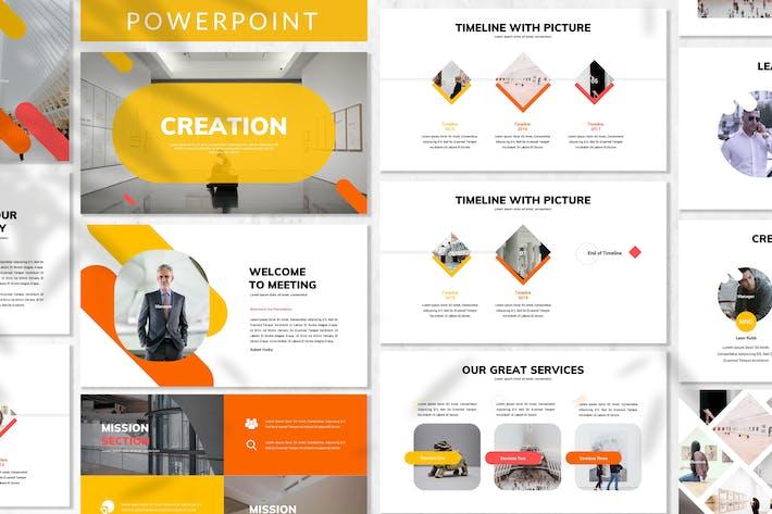 Thumbnail for Creación - Plantilla de PowerPoint empresarial
