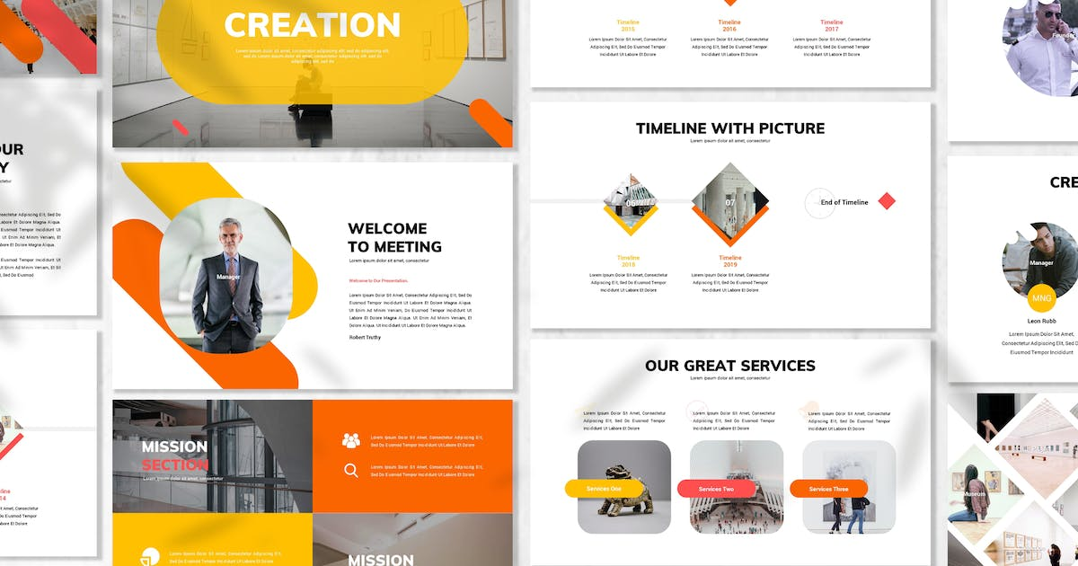 Download Creation - Business Powerpoint Template by 83des