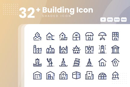 32+ Building Icon Collection