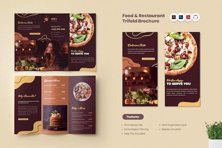 Food & Restaurant Dreifache Broschüre