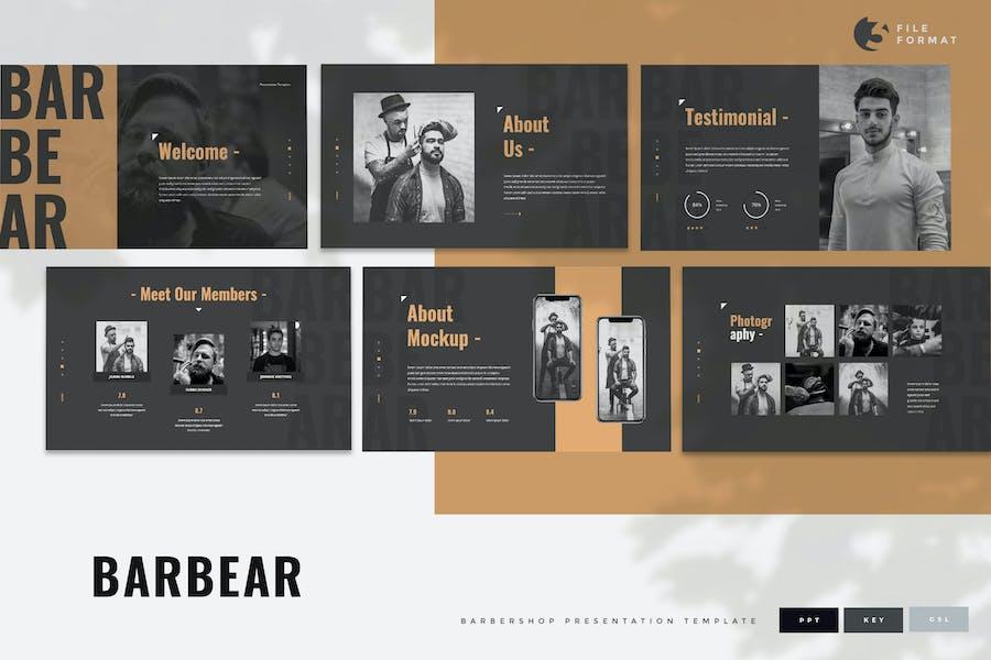 Barbear - Barbershop Presentation Template