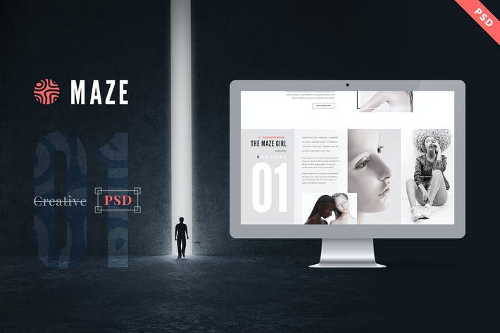 Thumbnail for Maze | Creative Agency PSD Template