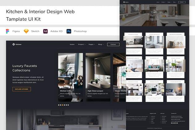 Kitchen & Interior Design Web Tamplate UI Kit