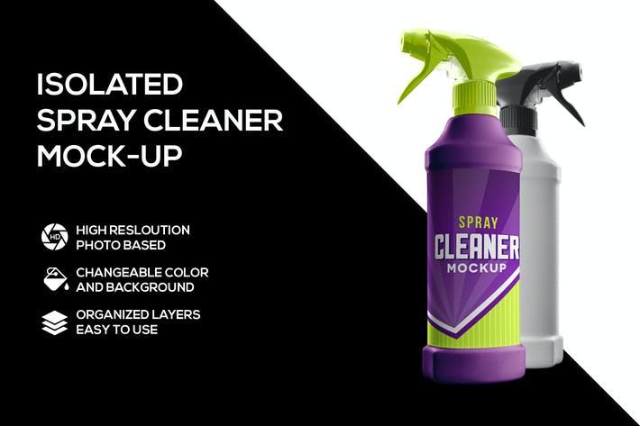 Cover Image For Spray Cleaner Mockup