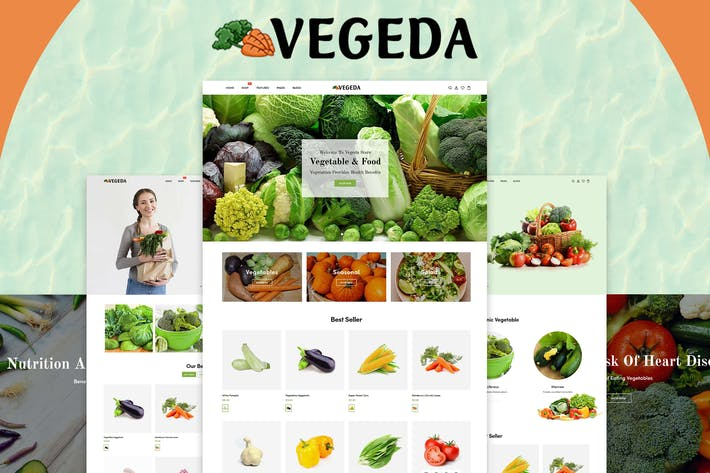 Thumbnail for Vegeda - Vegetables And Organic Food Shopify Theme