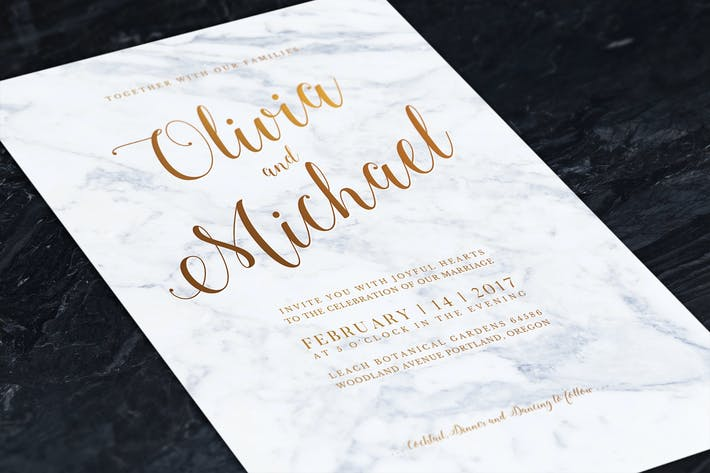 Thumbnail for Marbel Wedding Invitation
