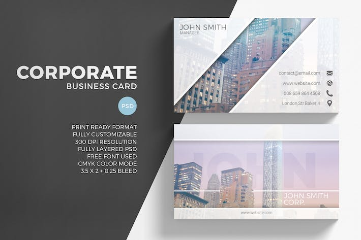 Modern creative business card by eightonesixstudios on envato elements cover image for modern creative business card reheart Images