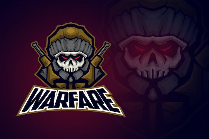 Thumbnail for Evil Skull Soldier Esport Logo