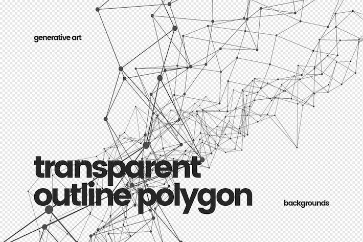 Thumbnail for Transparent Outline Polygon Backgrounds