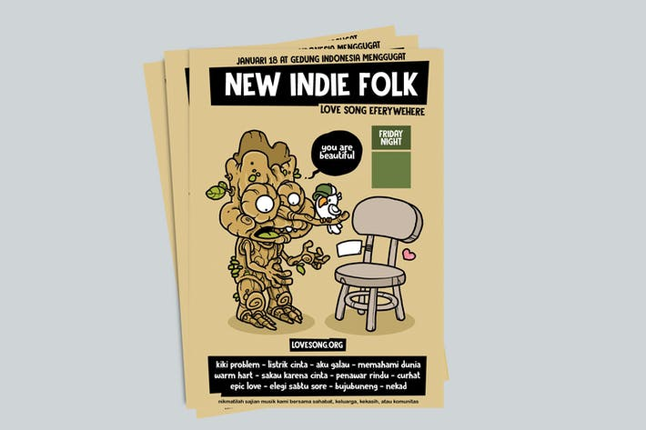 Thumbnail for New Indie Folk Poster RG