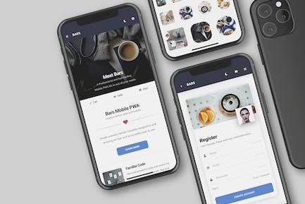 Bars Mobile | Mobile PWA Template