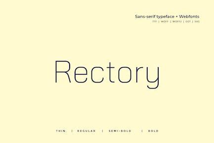 Rectory  - Modern Typeface + WebFont