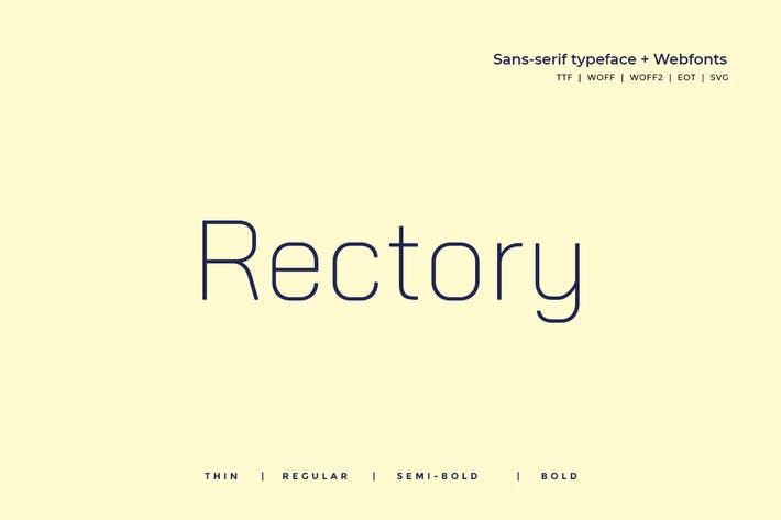 Thumbnail for Rectory - Moderno Typeface + WebFont