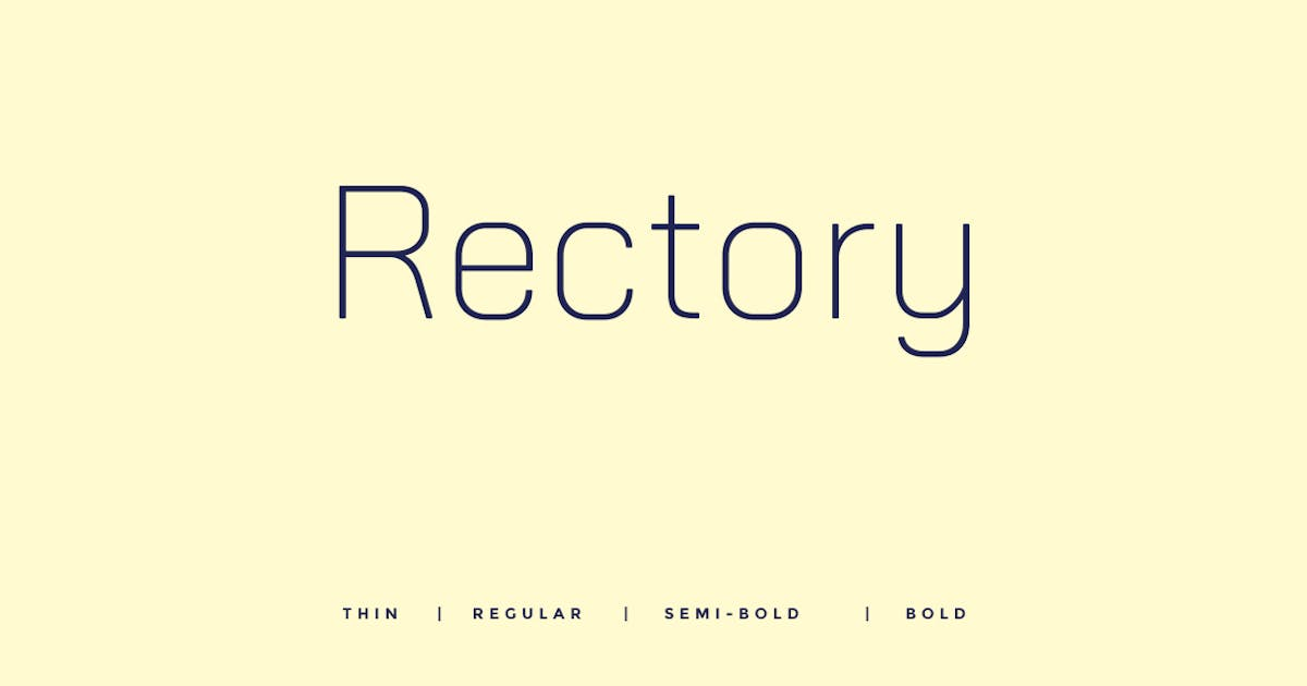 Download Rectory  - Modern Typeface + WebFont by webhance