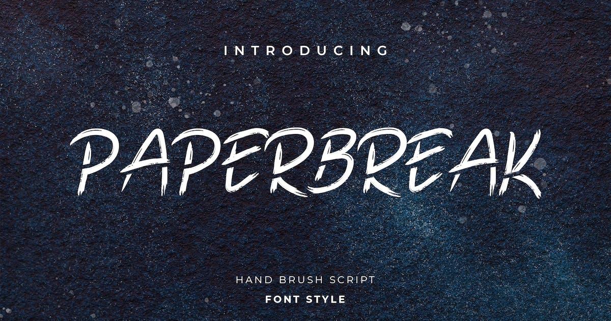 Download Paperbreak Brush Handwritten Font by uicreativenet
