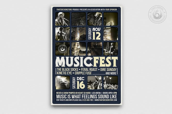 Thumbnail for Music Festival Flyer Template V13