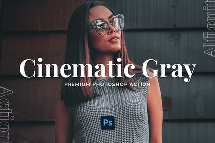 Cinematic Gray Photoshop Action