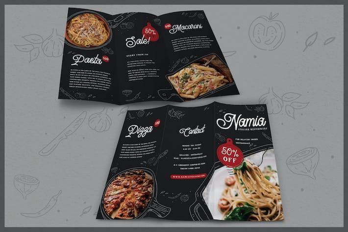 Thumbnail for Modern Illustration Italian Food - Brochure
