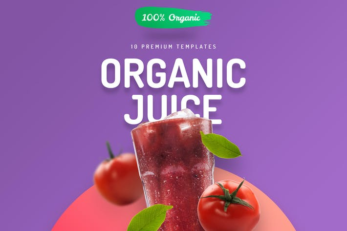 Thumbnail for Organic Juice - 10 Premium Hero Image Templates