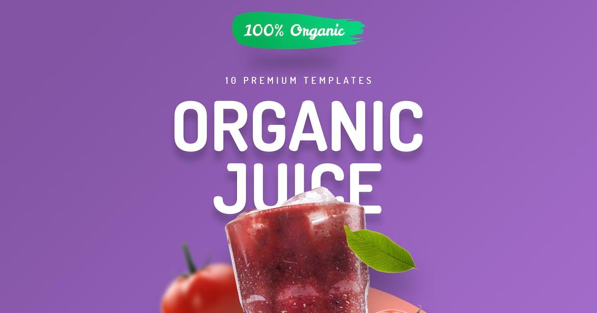 Download Organic Juice - 10 Premium Hero Image Templates by CreativeForm