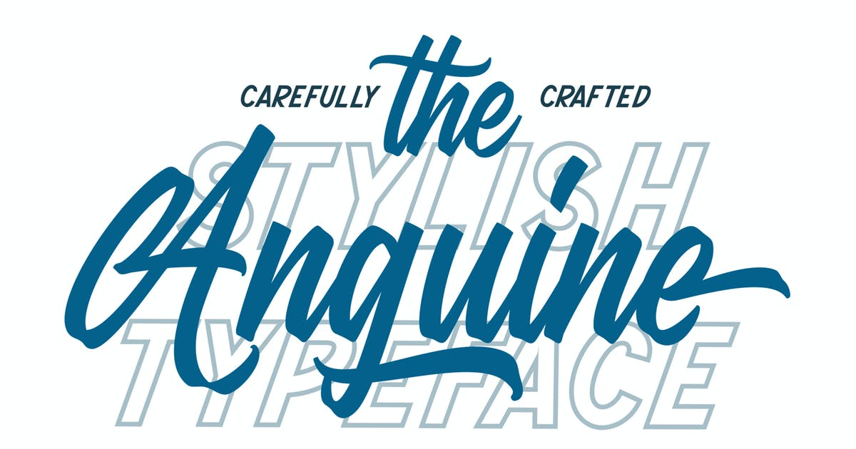 Download Anguine - Stylish Typeface by graptailtype
