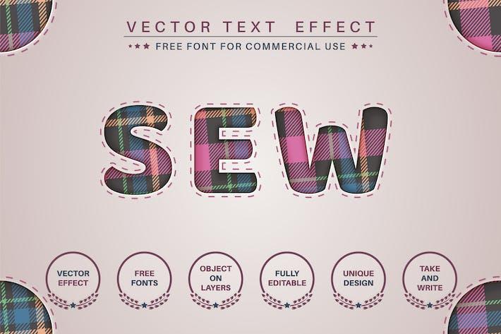 Тартан - редактируемый текстовый эффект, стиль шрифта.