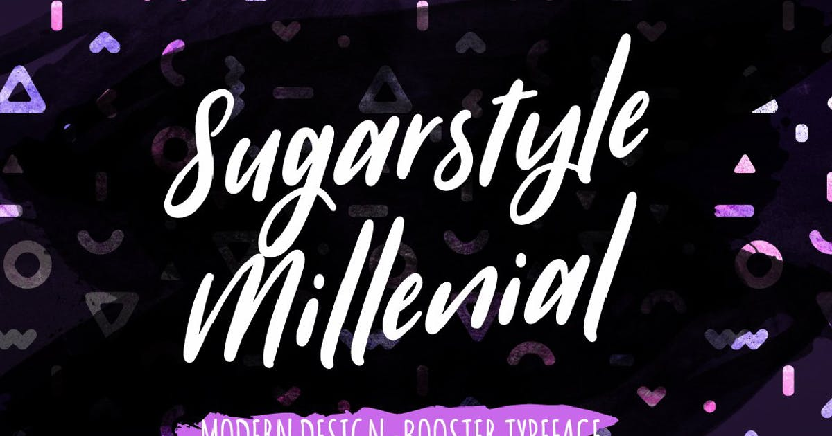 Download Sugarstyle Millenial Typeface by MPFphotography