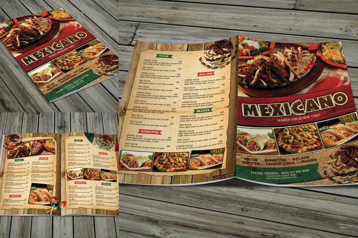 Thumbnail for Mexican Menu (Bifold)