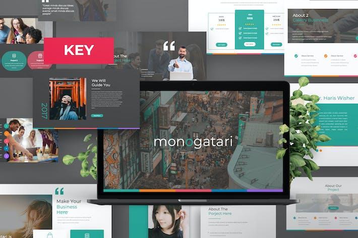Thumbnail for Monogatari Pitch Deck Keynote Template