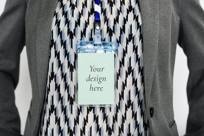 Thumbnail for Name tag Pass ID Card Mockup