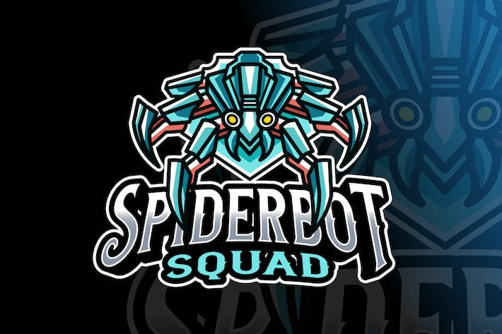 Thumbnail for Spider Robot Logo Template