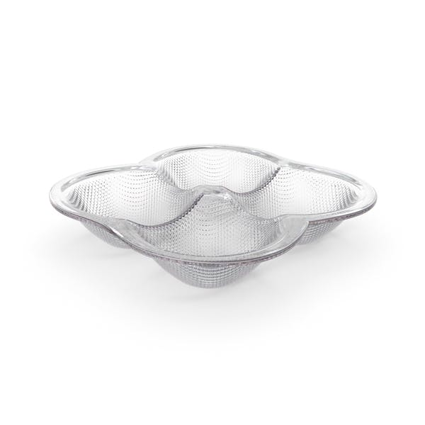 Thumbnail for Crystal 4 Compartment Round Bowl