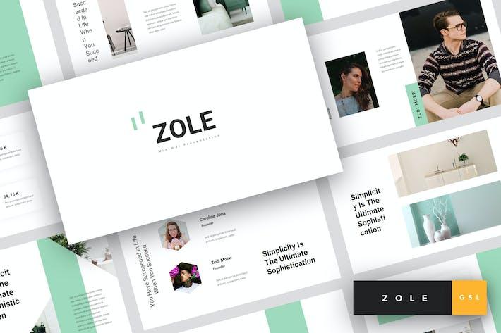 Thumbnail for Zole - Minimal Google Slides Template