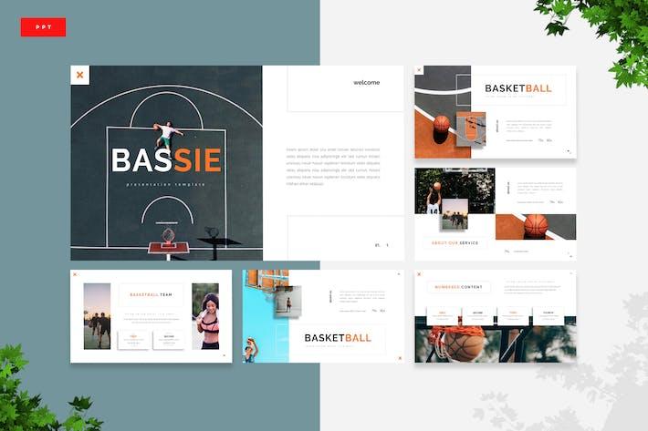 Басси - Баскетбол Powerpoint Шаблон