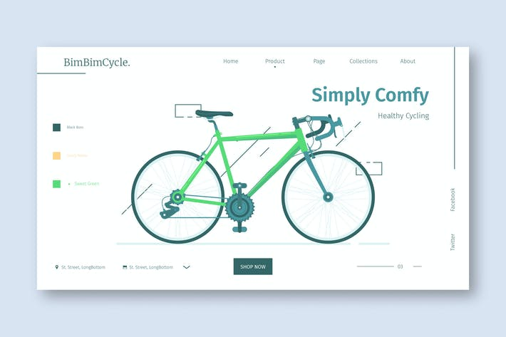 Cover Image For Bike shop - Landing Page
