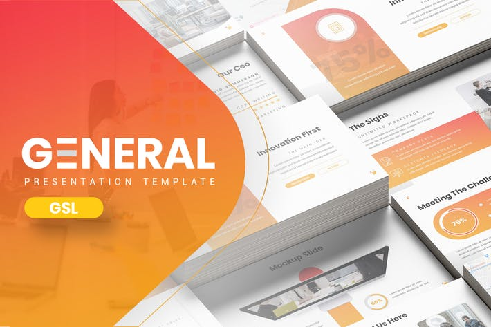 Thumbnail for Allgemein - Hexagonal Company Google Slides Vorlage