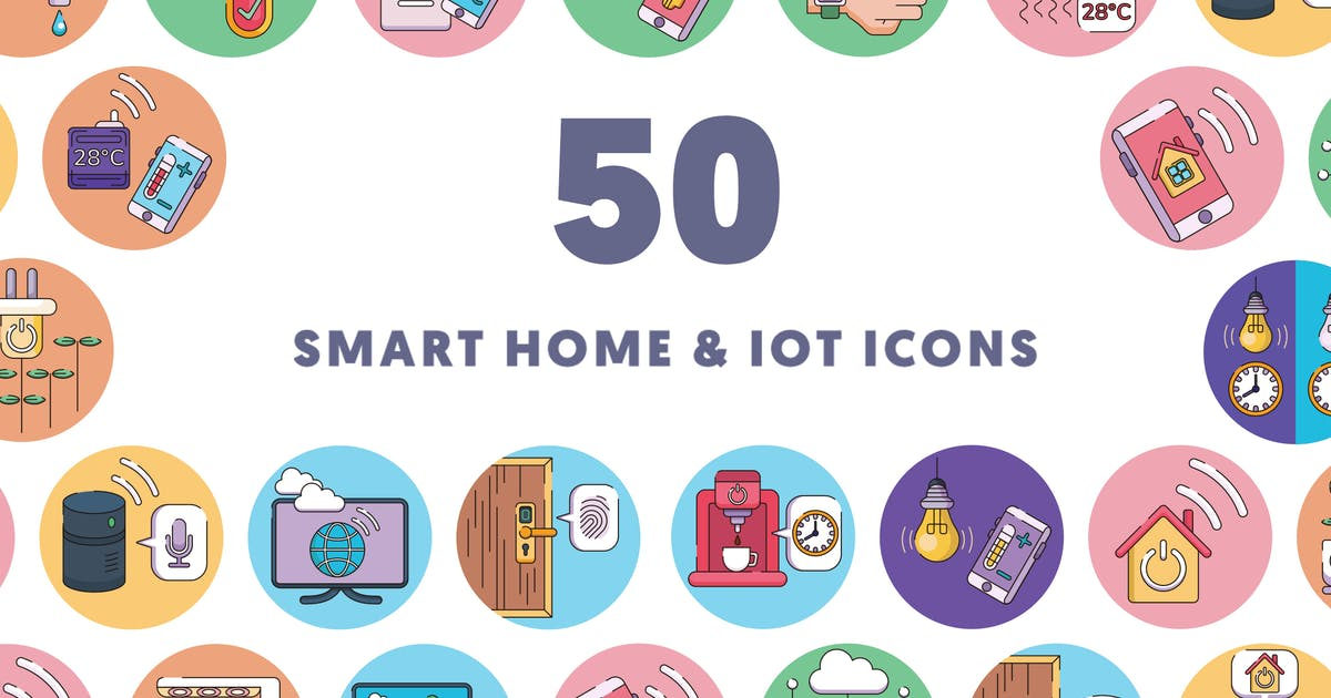 Download 50 Smart home and IoT devices by thedighital
