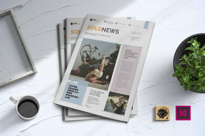 Thumbnail for Solo News   Newsletter Template