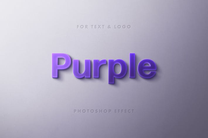 Thumbnail for Purple Typography Logo and Text Effect