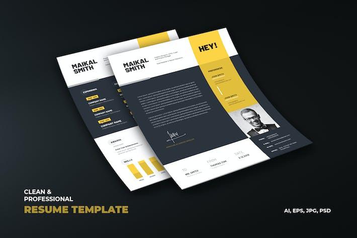 Cover Image For Creative Resume, vCard, CV & Portfolio Template