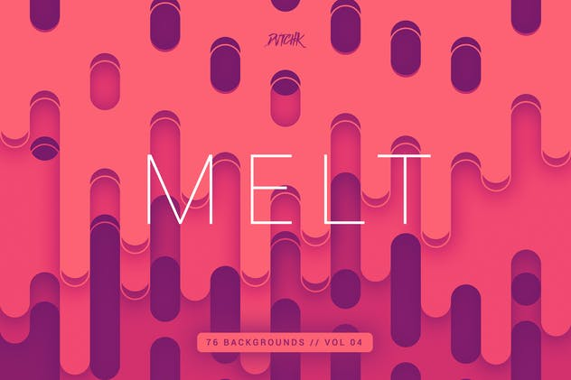 Melt | Abstract Rounded Backgrounds | Vol. 04
