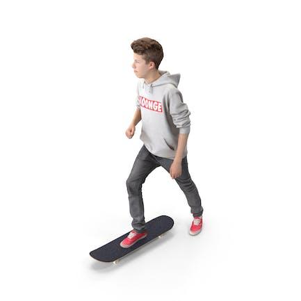 Skateboarder Teenager posierte