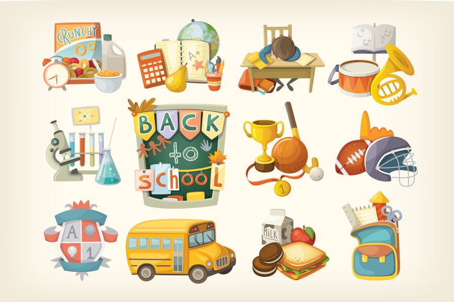 School theme elements