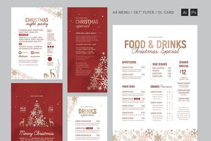 Thumbnail for Ornate Christmas Menus & Flyers