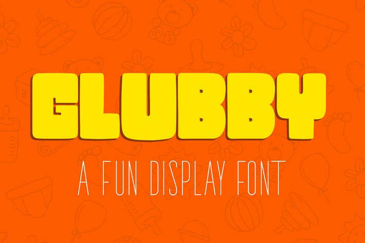 Thumbnail for Glubby - Fun Display Font